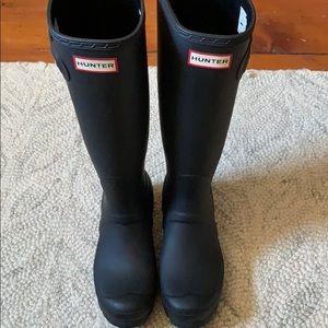 Women's Black Matte Hunter Boots Size 7